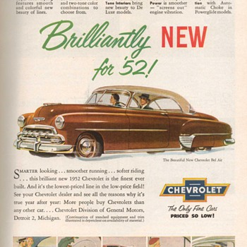 1952 - Chevrolet Bel-Air Advertisement - Advertising