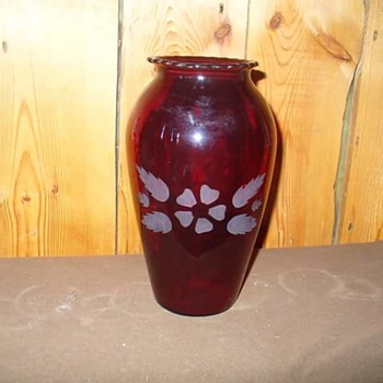 Red Ruby Glass Vase