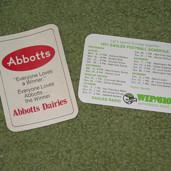 Abbotts Dairy , Abbott's Dairy , Philadelphia sports , Eagles  - Football