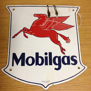 Mobilgas Pump Sign