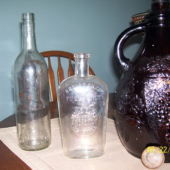 emile gluck bottle ,1940 or before brown jug - Bottles