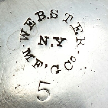Webster Manufacturing Co. silverplate item - Sterling Silver