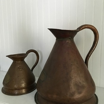 "Copper Haystack Measures Pitchers ""Madras Excise"""