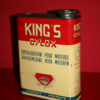 king's cylox oil can - Petroliana