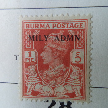 Burma - assorted old stamps