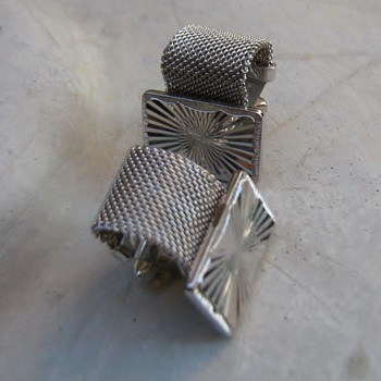 1970's flashy silver cufflinks - Accessories