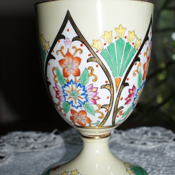Noritake Made in Japan,  Hand-Painted Cup?  Vase?  Gigantic Eggcup? - China and Dinnerware