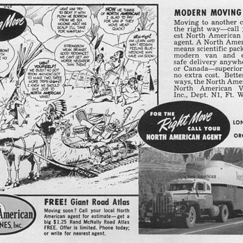 1952 - North American Van Lines Advertisement - Advertising