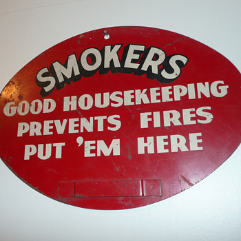 Good Housekeeping Ashtray Sign
