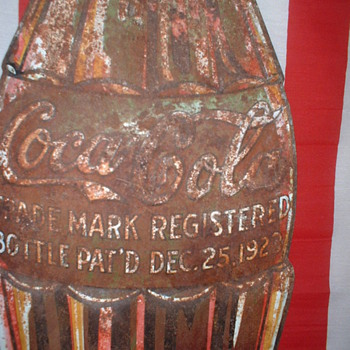 coke bottle sign