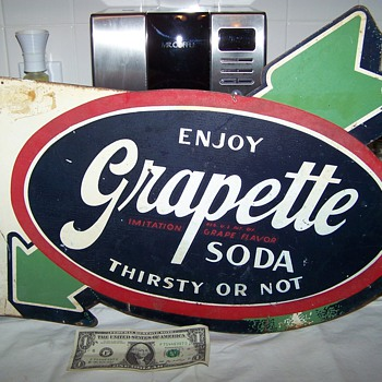 grapette flange sign- - Advertising