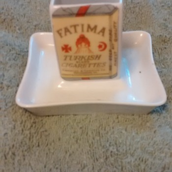 Vintage ashtray advertising Fatima cigarettes