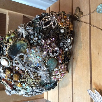 Making something useful from my collection of costume jewellery - Costume Jewelry