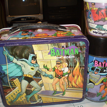 Batman and Robin Lunchbox w/ Thermos &amp; MUG