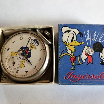 Ingersoll Donald Duck Pocket Watch, Circa 1939 - Pocket Watches