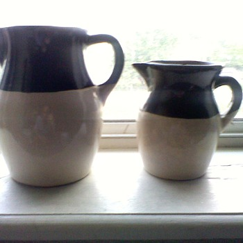 Antique Roseville Brown & Tan Jugs