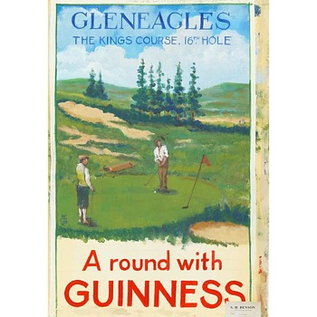 A round with Guinness – 1950 Gleneagles Advertising Study by Gilroy - Signs
