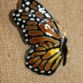 Enamel Butterfly 925S - Animals