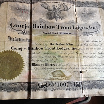 Trying to figure out what these are! Old stock certificates