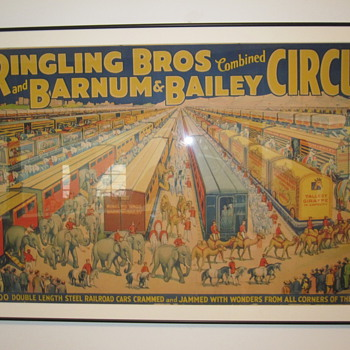 Shelburne Museum Circus posters #1 - The Barnum and Bailey Trains
