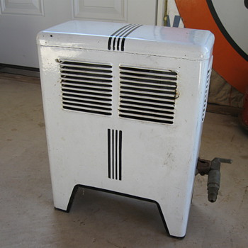 Old Porcelain Space Heater, Gas