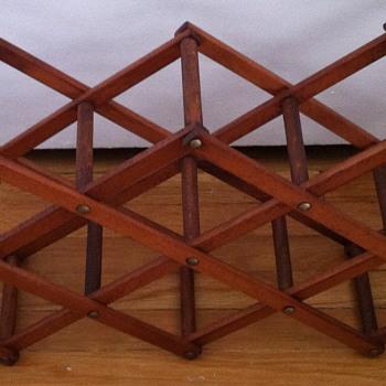 Mid century modern wine rack.