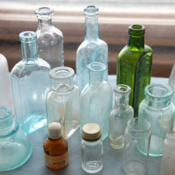 Collection of Miscellaneous Antique and Vintage Small Bottles