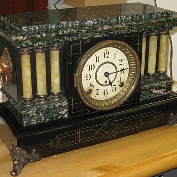 "Seth Thomas ""Adamantine"" Mantel Clock with ""Ding Dong"" Strike - Clocks"