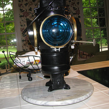 Finally redid my Adlake Switch Lantern - Railroadiana