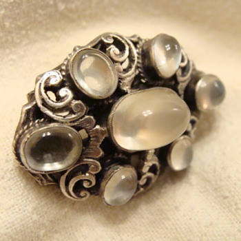 English Moonstone Brooch