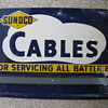 Sunoco Cables Battery Service Sign