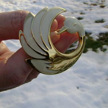 Swan Brooch - Costume Jewelry