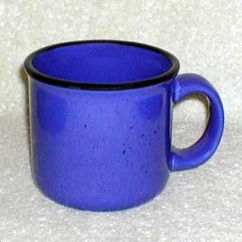 Blue Stoneware Mugs - Kitchen