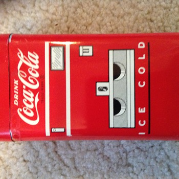 My 1950s coca cola tin bank
