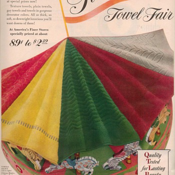 1950 Fieldcrest Mills Advertisements - Advertising