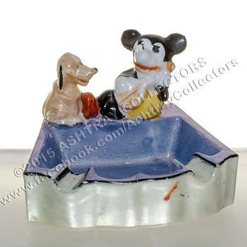 Mickey Mouse Lusterware Ashtray