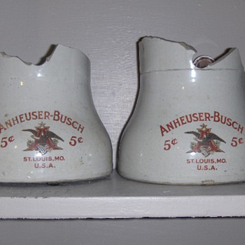 Anhueser Busch 5 cents Porcelin Broken Beer Dispenser ?