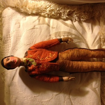 Hand sewn mexican cloth gentleman figure - Dolls
