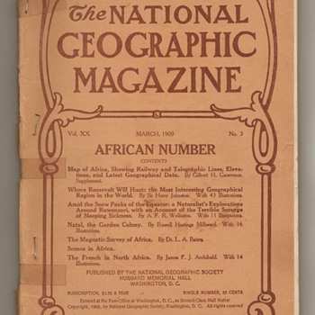 National Geographic Magazines - 1909 - Paper