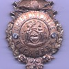 14K gold New York Central &amp; Hudson River Railroad Chief of Police badge with diamonds