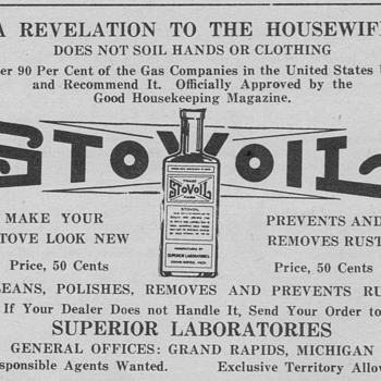 1921 - Stov-Oil Advertisement - Advertising