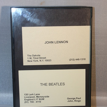 John Lennon and Beatles business cards