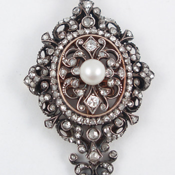 Boucheron Pearl and Diamond Pendant