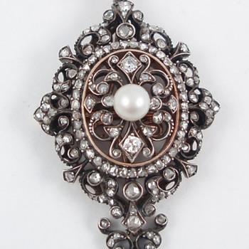 Boucheron Pearl and Diamond Pendant - Fine Jewelry
