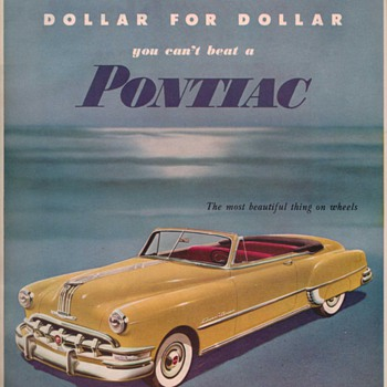 1950 Pontiac Advertisement - Advertising