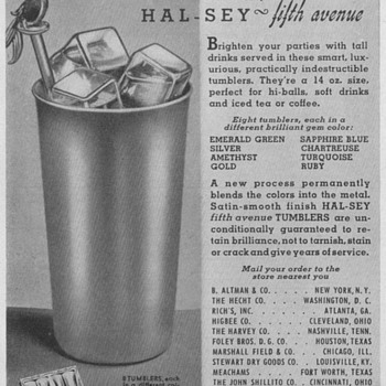 1950 Hal-Sey Fifth Ave. Advertisement