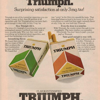 1979 - Triumph Cigarettes Advertisement