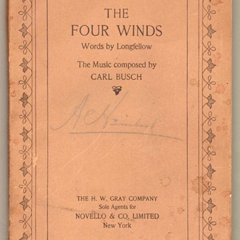 "1907 - ""The Four Winds"" Music Book"