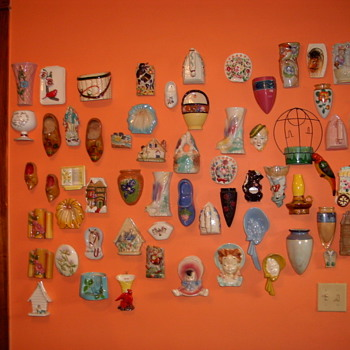 A FEW OF MY WALL POCKETS - Art Pottery