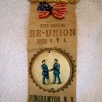Civil War Reunion Ribbons - Medals Pins and Badges